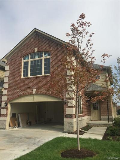 Shelby Twp Condo/Townhouse For Sale: 53204 Celtic Dr