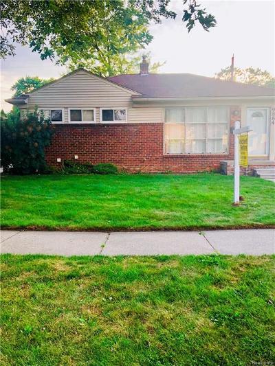 Allen Park Single Family Home For Sale: 9884 Fox Ave