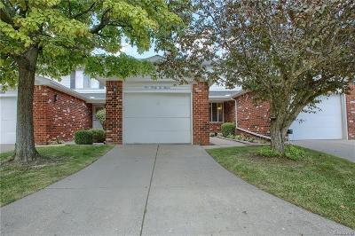 Clinton Township Condo/Townhouse For Sale: 42211 Toddmark Ln
