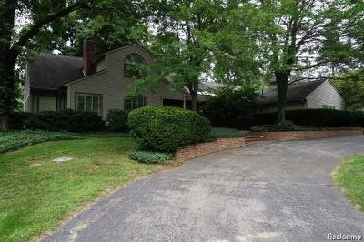 Franklin Single Family Home For Sale: 32577 Wing Lake Rd