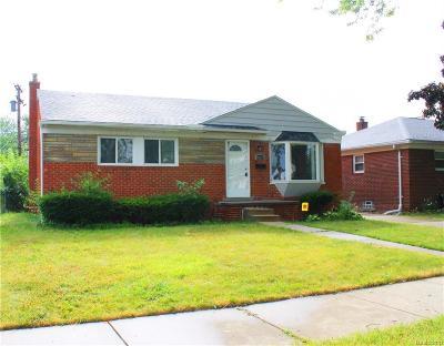 Eastpointe MI Single Family Home For Sale: $131,969