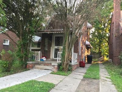 Detroit Single Family Home Pending: 16647 Marlowe St