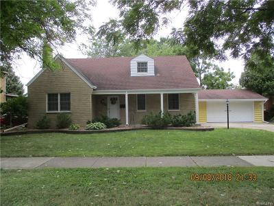 Allen Park Single Family Home For Sale: 9012 Niver Ave