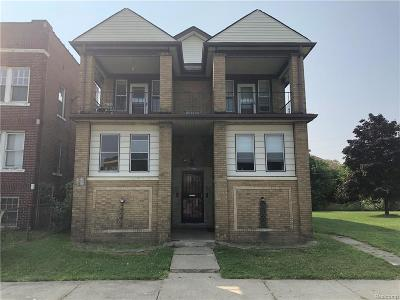 Detroit Multi Family Home For Sale: 3417 Longfellow St
