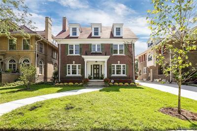 Detroit Single Family Home For Sale: 1991 Chicago Blvd Blvd