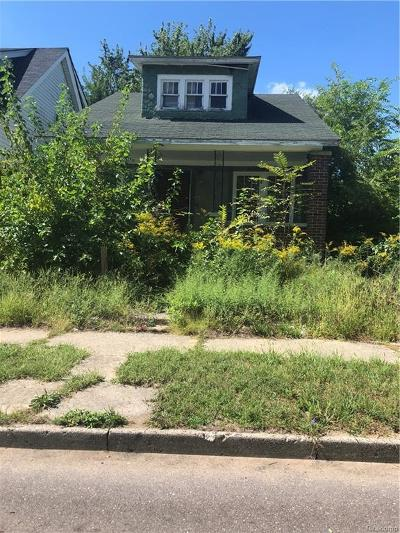 Detroit Single Family Home For Sale: 19269 Gallagher St