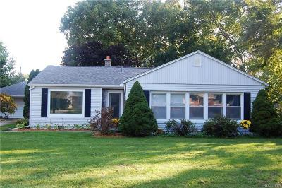 Clawson Single Family Home For Sale: 670 Goodale Ave