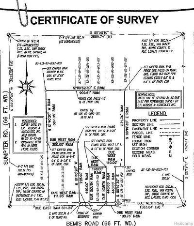 Wayne Residential Lots & Land For Sale: 44680 Bemis Rd