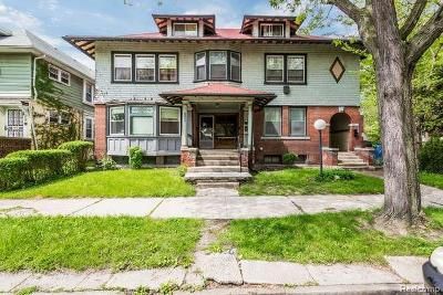 Detroit Multi Family Home For Sale: 1733 Canton St