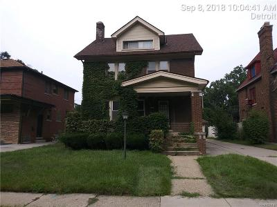 Detroit Single Family Home For Sale: 18105 Fairfield St