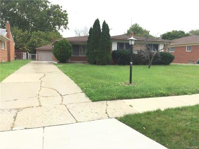 Southfield Single Family Home For Sale: 24620 Harden Ave