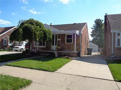 Lincoln Park Single Family Home For Sale: 1473 Moran Ave