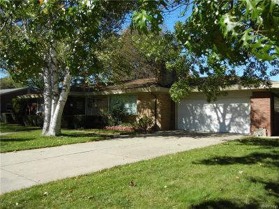 Allen Park Single Family Home For Sale: 15828 Crescent Ave