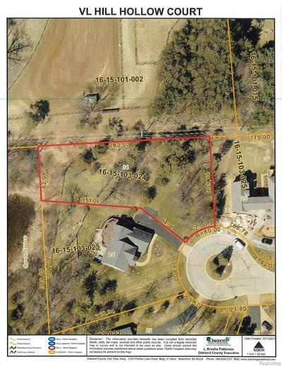 Oakland Residential Lots & Land For Sale: Hill Hollow Court