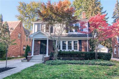Grosse Pointe Park Single Family Home For Sale: 1363 Grayton St