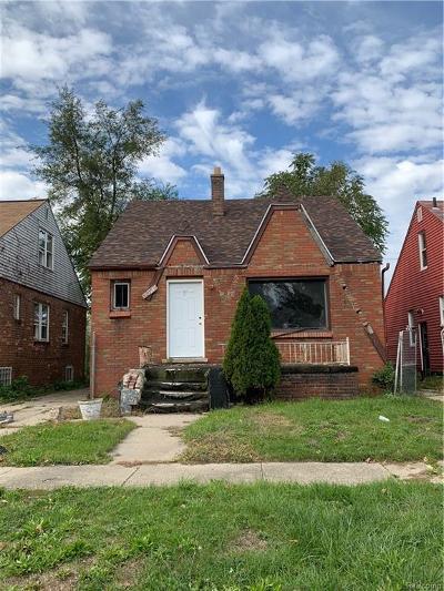 Detroit Single Family Home For Sale: 16171 Strathmoor St
