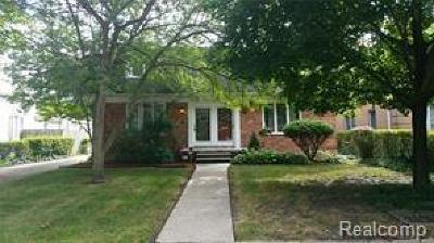 Grosse Pointe Single Family Home For Sale: 883 Neff Road