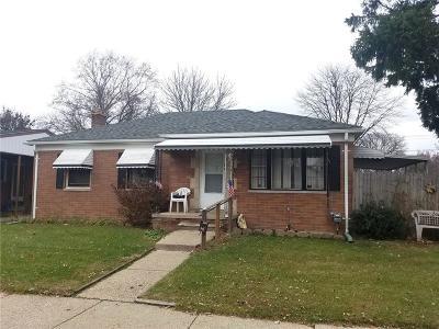 Hazel Park Single Family Home For Sale: 1643 E Pearl Ave