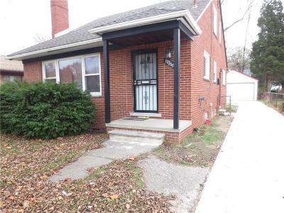 Detroit Single Family Home For Sale: 19350 Chapel St