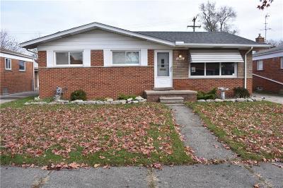Eastpointe MI Single Family Home For Sale: $114,900
