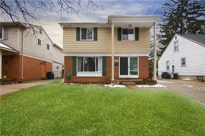 Royal Oak Single Family Home For Sale: 709 N Edison Ave