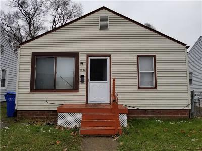Warren MI Single Family Home For Sale: $25,500