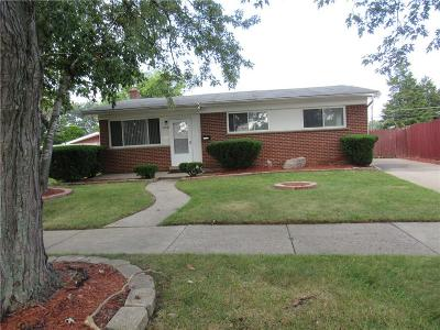 Dearborn Heights Single Family Home For Sale: 27336 Terrell St