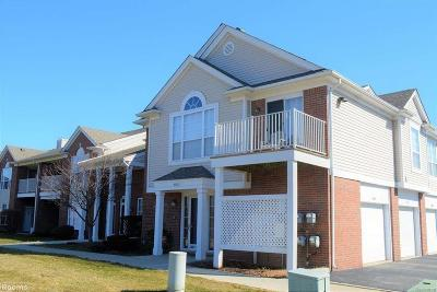 Macomb Condo/Townhouse For Sale: 45583 Heather Ridge Dr