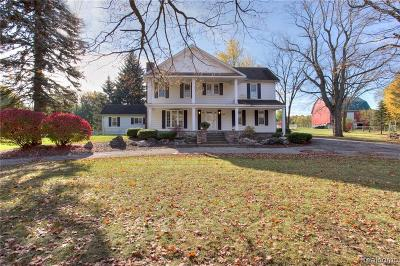 Lapeer Single Family Home For Sale: 3460 Sutton Rd