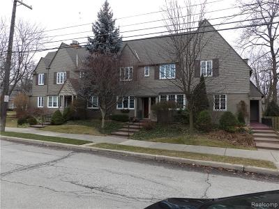 Grosse Pointe Condo/Townhouse For Sale: 474 Notre Dame