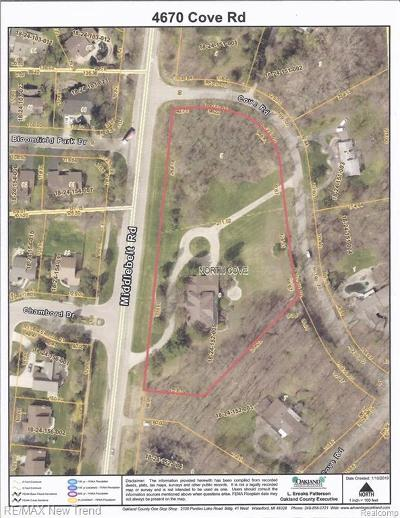 West Bloomfield Residential Lots & Land For Sale: Cove Rd