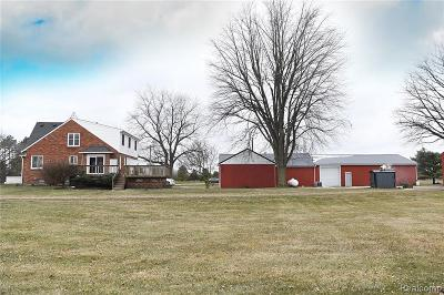 Lapeer Single Family Home For Sale: 8753 Hollow Corners Rd