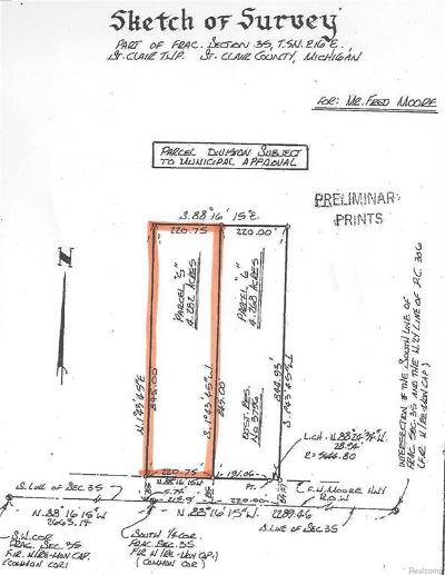 Saint Clair MI Residential Lots & Land For Sale: $59,900