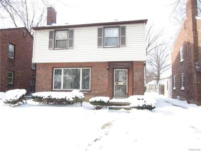 Detroit Single Family Home For Sale: 12857 Memorial St