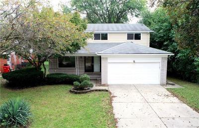 Southfield Single Family Home For Sale: 18495 Onyx St