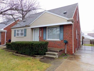 Allen Park Single Family Home For Sale: 9650 Park Ave