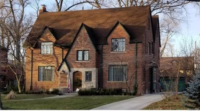 Grosse Pointe Park Single Family Home For Sale: 1417 Buckingham Rd