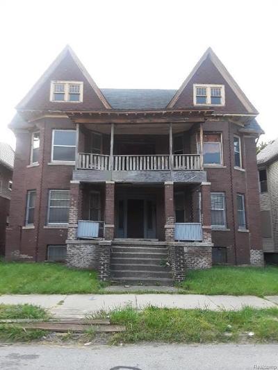 Detroit Multi Family Home For Sale: 691 Clairmount St
