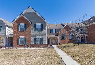 Shelby Twp Condo/Townhouse For Sale: 54617 Monarch Dr