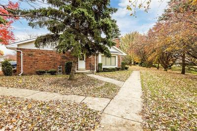 Clinton Township Condo/Townhouse For Sale: 42212 Toddmark Ln
