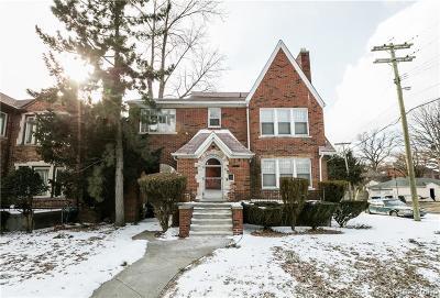 Detroit Single Family Home For Sale: 20251 Stratford Rd