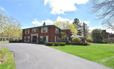 Bloomfield Hills Single Family Home For Sale: 470 N Cranbrook Rd