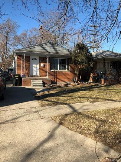 Detroit Single Family Home For Sale: 6911 Rutland