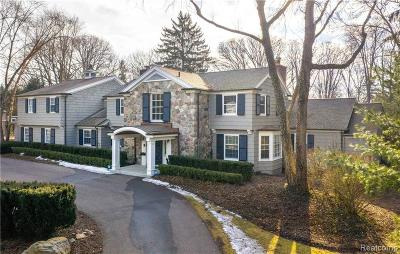 Bloomfield Hills Single Family Home For Sale: 1530 N Cranbrook Rd