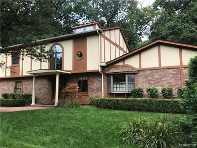 West Bloomfield Single Family Home For Sale: 3793 Alcott
