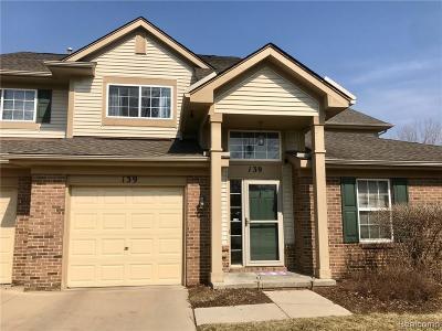 Auburn Hills Condo/Townhouse For Sale: 139 S Vista