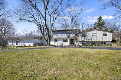 West Bloomfield Single Family Home For Sale: 6764 W Knollwood