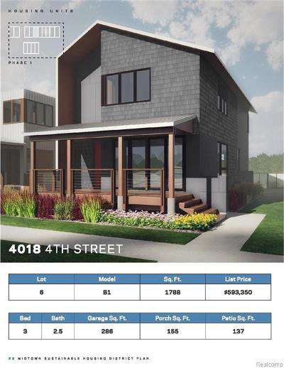 Detroit Condo/Townhouse For Sale: 4018 Fourth St