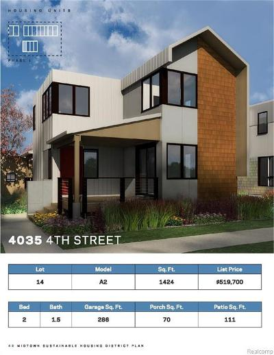 Detroit Condo/Townhouse For Sale: 4035 Fourth St