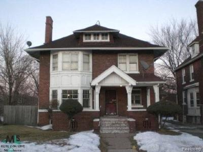 Detroit Single Family Home For Sale: 856 E Grand Blvd